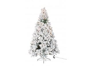 Vánoční zasněžený strom s led světýlky Snowy - 155cm