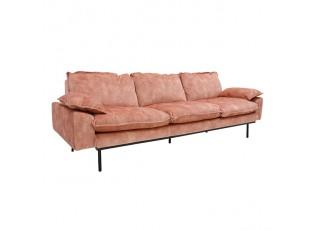 Růžová 4-místná pohovka Vintage pink- 245*83*95 cm