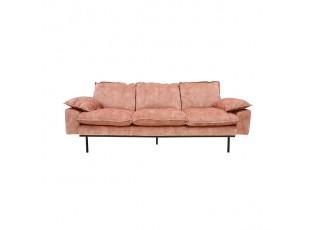 Růžová 3-místná pohovka Vintage pink- 225*83*95 cm