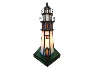 Stolní lampa Tiffany Lighthouse - 11*11*25 cm