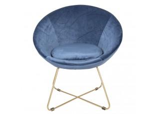 Modré křesílko Juliette - 76*66*78 cm