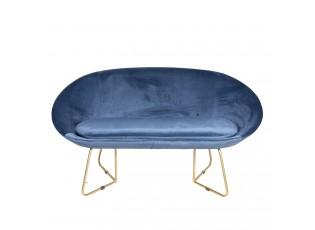 Modrá sedačka Juliette - 145*64*89 cm