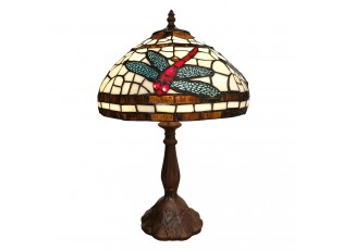 Stolní lampa Tiffany Red Dragonfly - 31*31*47 cm