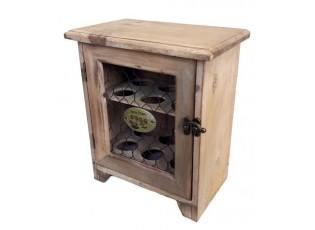 Hnědá dřevěná skříňka na vajíčka  - 23*14,5*27 cm