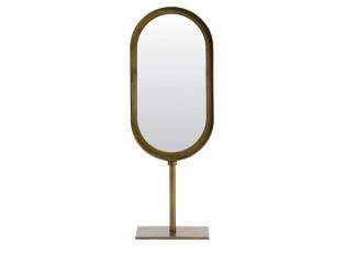 Bronzové oválné stolní zrcadlo Lure antik bronze - 16*10*45 cm