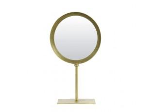 Bronzové kulaté stolní zrcadlo Lure antik bronze - 20*10*35 cm