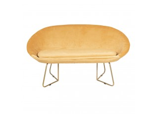 Žlutá sedačka Juliette - 145*64*89 cm