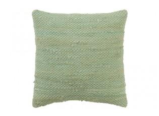 Zelený háčkovaný polštář z bavlny Crocheted - 45*45 cm