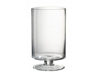 Trasparentní široká váza na nožce Glass - Ø 20*35 cm
