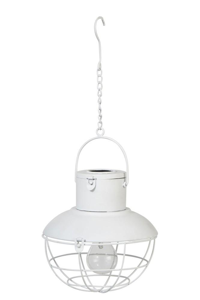 LAMP LED HANG SOLAR PANEL METAL/GLASS WHITE - 22*22*23 cm
