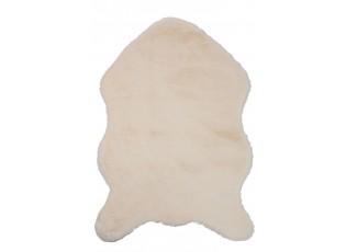 Béžová chlupatá kožešina Pelt - 86*61 cm