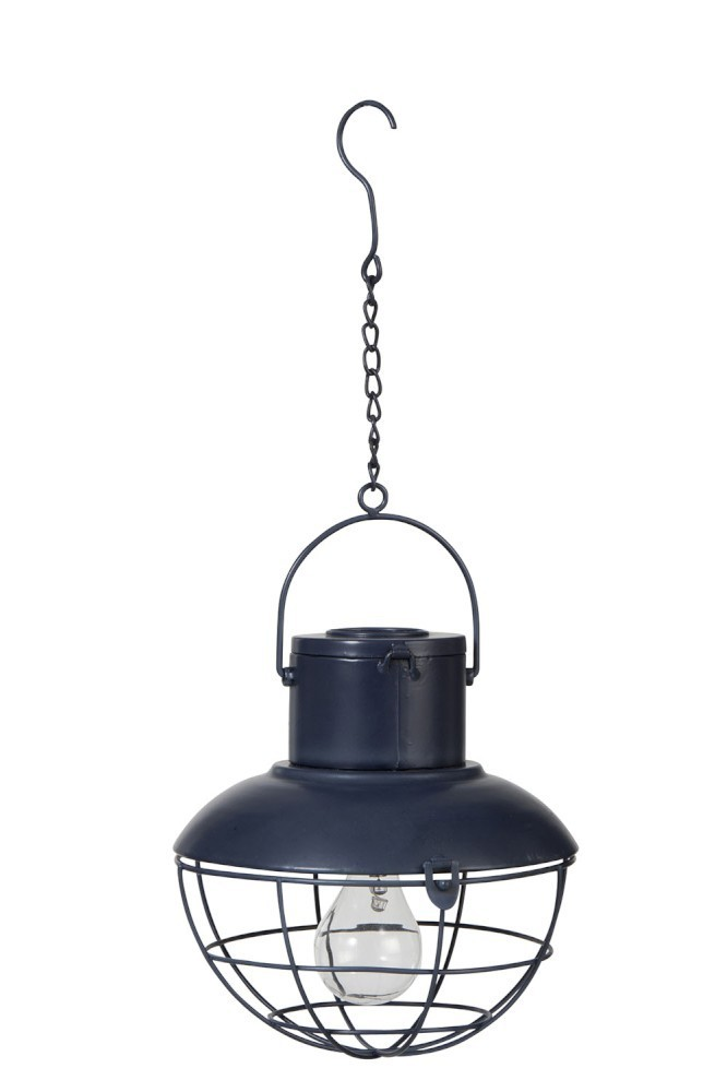 LAMP LED HANG SOLAR PANEL METAL/GLASS BLUE - 22*22*23 cm