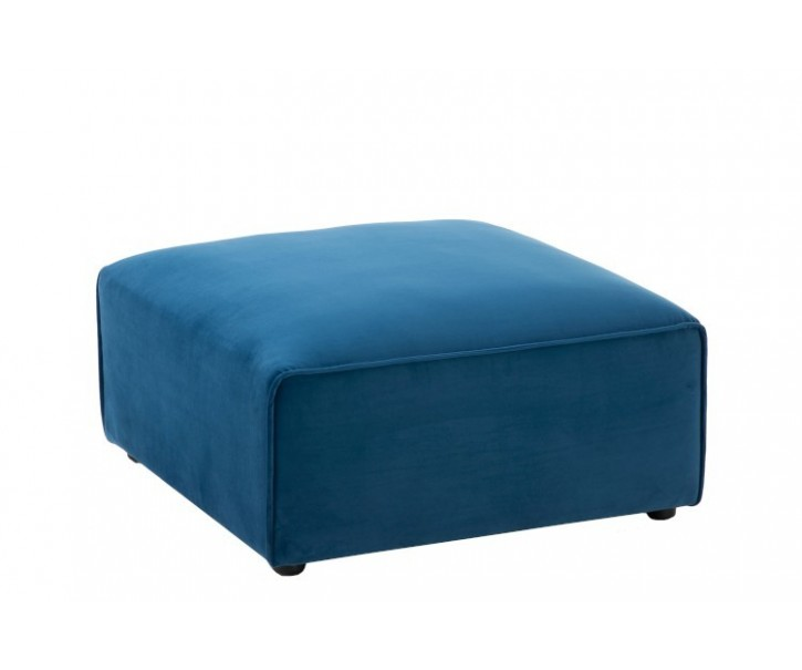 Modrý čtvercový taburet Maurice - 80*80*38 cm
