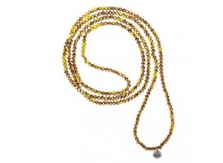 Žluto zlatý korálkový náhrdelník - 4 mm
