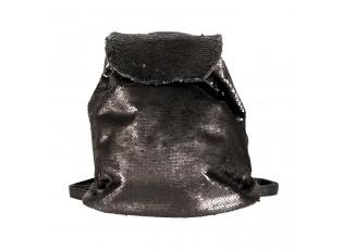 Černý batoh s flitry - 24*11*33 cm