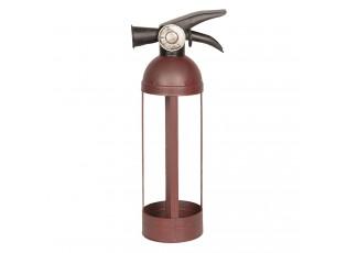 Kovový držák na láhev Hasící přístroj - 10*10*34 cm