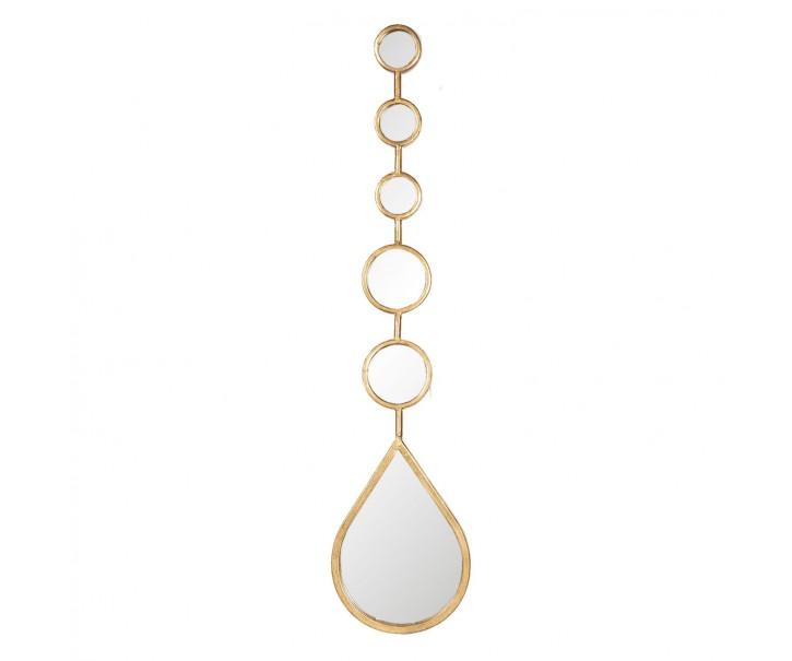 Set zrcadel ve zlatém rámu Beau - 19*2*80 cm