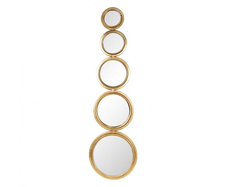 Sada kulatých nástěnných zrcadel ve zlatém rámu Beau- 23*2*79 cm