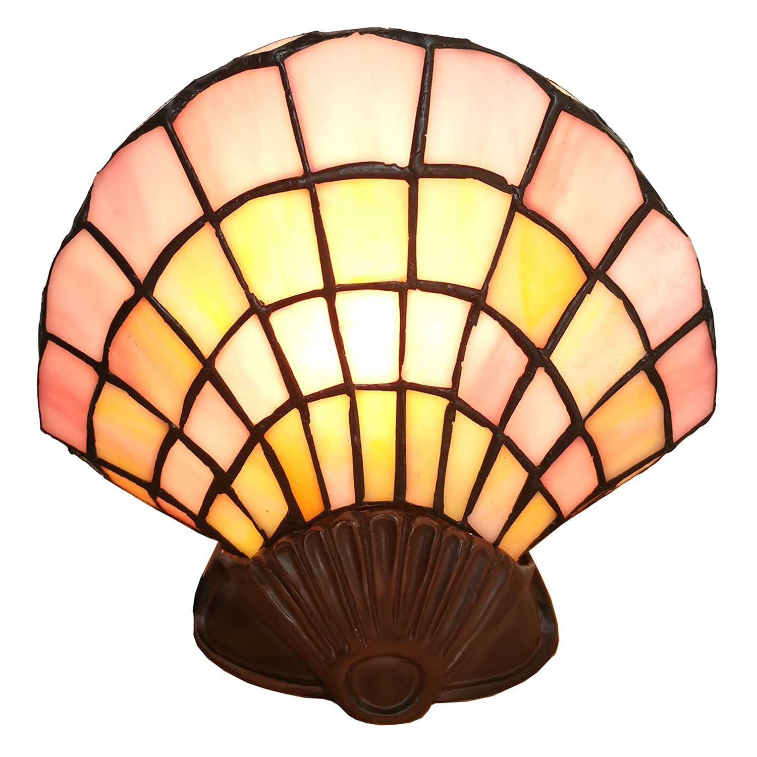 Nástěnná lampa Tiffany Shell - 25*20 cm