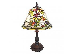 Stolní vitrážová lampa Tiffany Mabelle - 31*31*47 cm