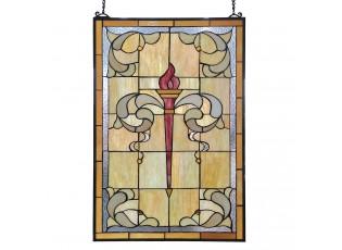 Vitrážový panel Tiffany Flambeau - 50*100 cm