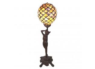Stolní vitrážová lampa Tiffany Femme - 21*21*51 cm