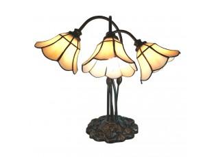Stolní vitrážová lampa Tiffany Trois - 46*28*63 cm