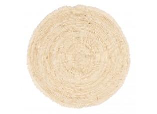 Přírodní kulatý koberec z mořské trávy s třásněmi - Ø 70 cm