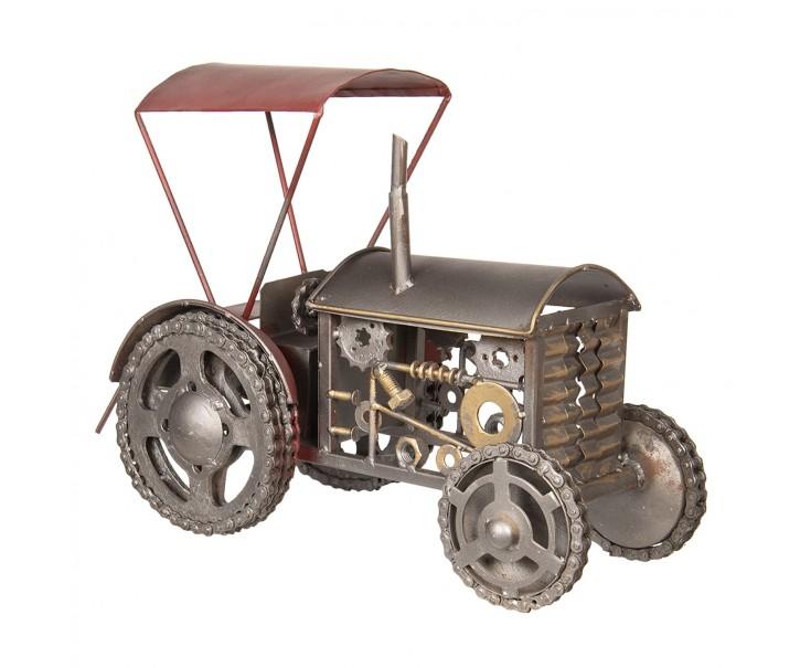 Velký kovový retro model traktoru - 56*33*46 cm