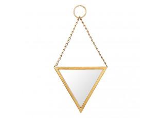 Zlaté trojúhelníkové zrcadlo  - 22*2*23 cm