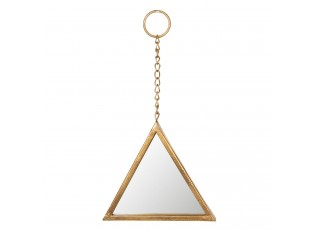 Zlaté trojúhelníkové zrcadlo - 23*2*23 cm