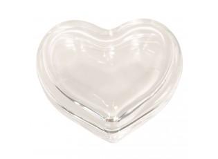 Skleněné srdíčko šperkovnice - 6*6*3 cm