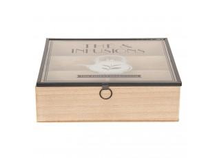 Čajový box (6 přihrádek) - 24*24*7 cm