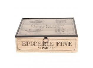 Čajový box (9 přihrádek) - 24*24*7 cm