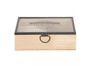 Dřevěný box šperkovnice - 18*15*6 cm