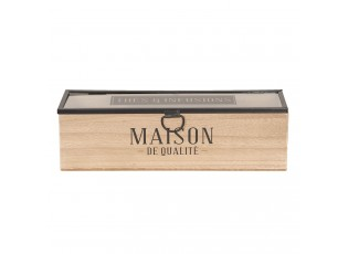 Dřevěná skříňka na čaj (1 přihrádka) - 29*8*9 cm