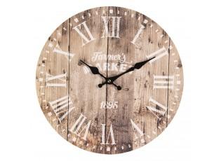 Nástěnné hodiny Farmers market - Ø 34*4 cm / 1*AA