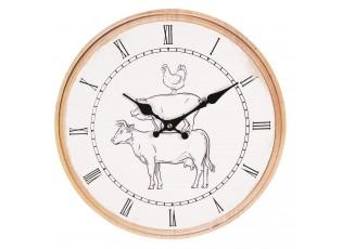 Nástěnné hodiny ve venkovském stylu - Ø 34*4 cm / 1*AA