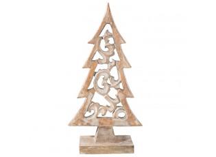 Dřevěný vánoční strom - 24*8*46 cm
