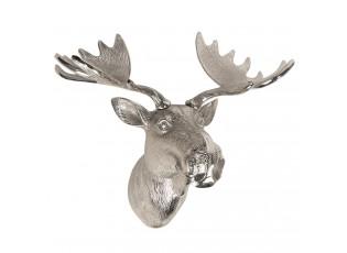 Stříbrná dekorační socha losa - 53*30*46 cm