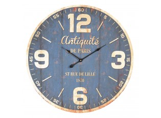 Modré hodiny Antiquité de Paris - Ø 60*4 cm / 1*AA