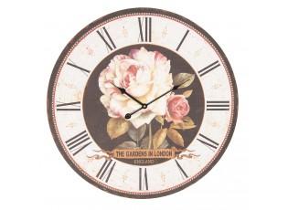 Květinové hodiny Gardens in London - Ø 60*4 cm / 1*AA