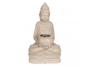 Zahradní dekorační socha Buddha s pítkem pro ptáky - 28*20*50 cm