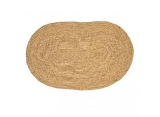 Oválný kobereček z mořské trávy - 80*50 cm