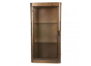 Zlatá kovová skříňka - 35*17*70 cm