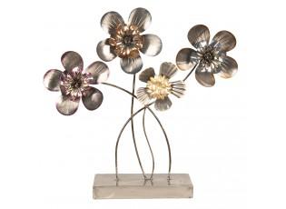 Kovová dekorace Květiny - 44*11*43 cm