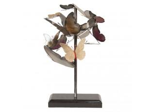 Kovová dekorace Motýli - 28*29*45 cm
