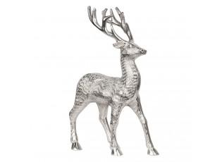 Stříbrná dekorační soška Jelen - 22*10*34 cm