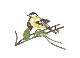 Kovový držák na láhev s ptákem - 21*12*16 cm