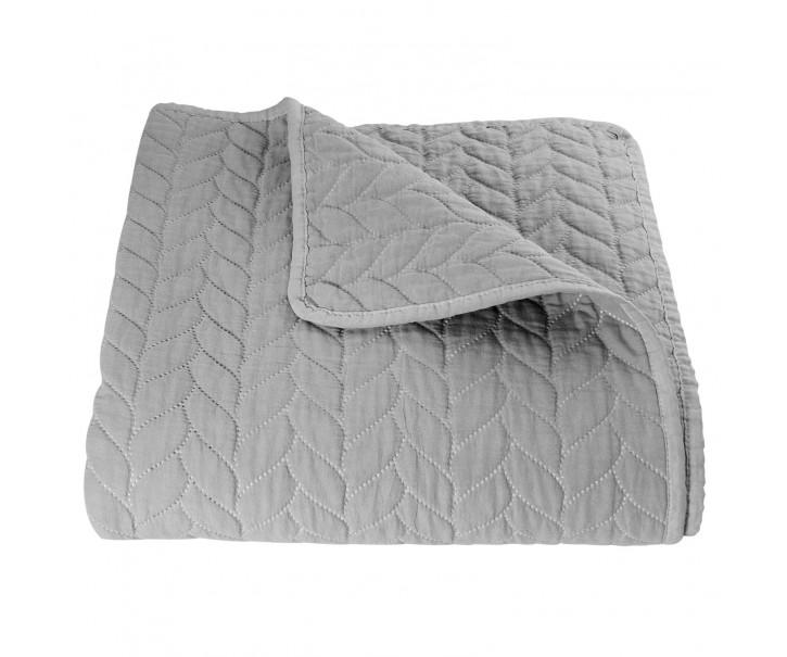 Šedý přehoz na dvoulůžkové postele Quilt 186  - 180*260 cm